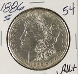 1886-S MORGAN DOLLAR - AU