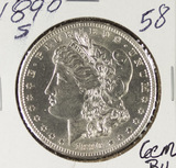 1890-S MORGAN DOLLAR - BU