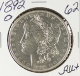 1892-O MORGAN DOLLAR - AU