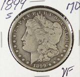 1899-S MORGAN DOLLAR - VF