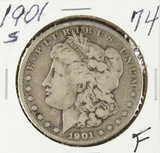 1901-S MORGAN DOLLAR - F