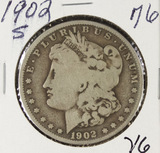 1902-S MORGAN DOLLAR - VG