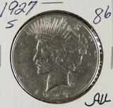 1927-S PEACE DOLLAR - AU