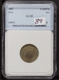 1867 - SHIELD NICKEL - AU