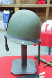 WW II Helmet With Liner and Stand