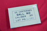 1 Box of 20, .30 Ball M2