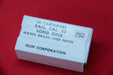 1 Box of 50, Olin 22 LR Match