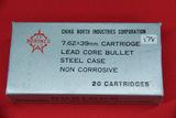 1 Box of 20, Norinco 7.62 x 39 mm