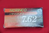 1 Box of 20, Norinco China sports 7.62 x 39 mm