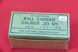 1 Box of 50, Lake City Ammo 30 M1 Carbine