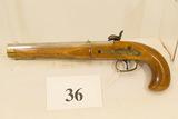 P. Bondini, Blackpowder Pistol, 44 cal, Italy