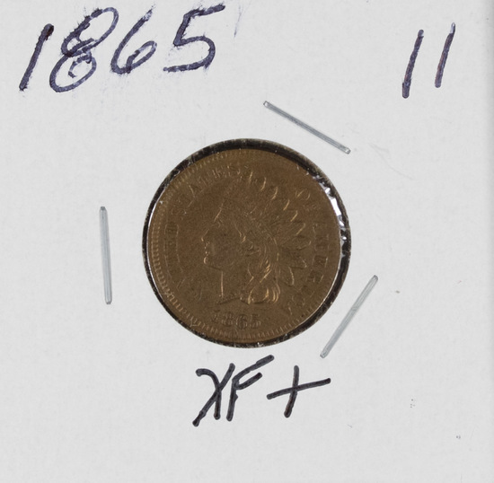 1865 - INDIAN HEAD CENT - XF+