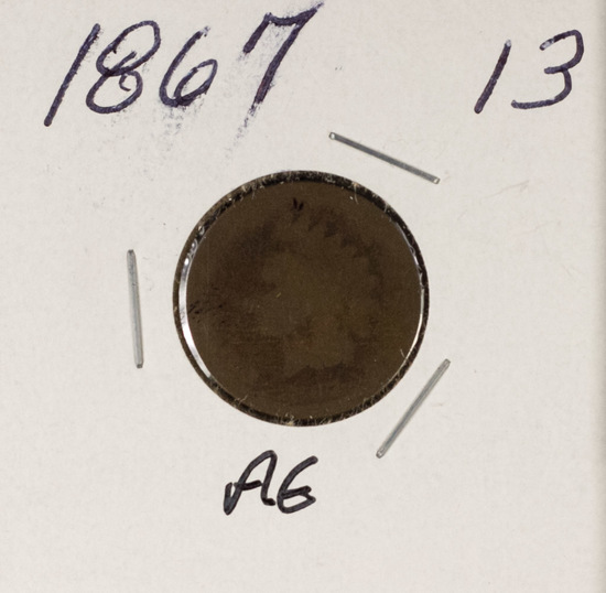 1867 - INDIAN HEAD CENT - AG