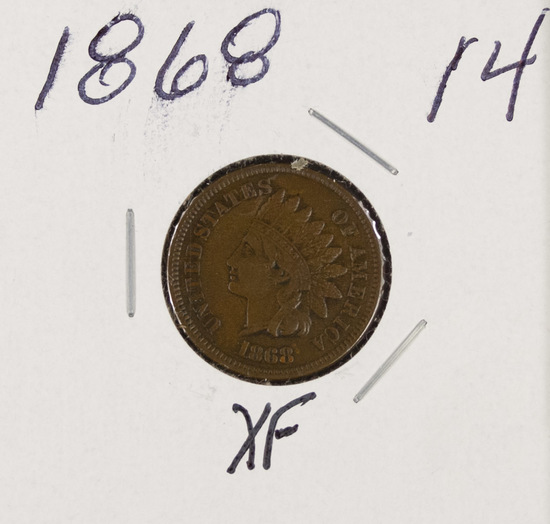 1868 - INDIAN HEAD CENT - XF