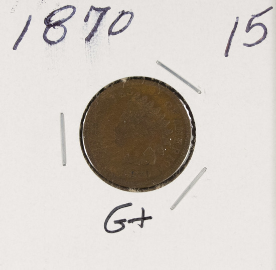 1870 - INDIAN HEAD CENT - G+