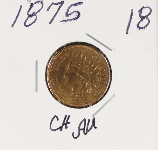 1875 - INDIAN HEAD CENT -AU