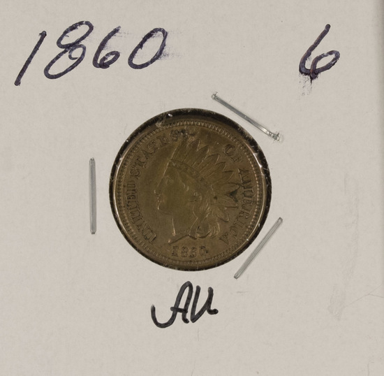1860 - INDIAN HEAD CENT - AU