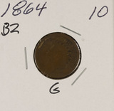 1864 BR - INDIAN HEAD CENT - G