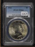 1922 - PCGS MS64 - PEACE DOLLAR