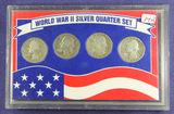 WORLD WAR II SILVER QUARTER SET