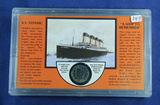 S.S. TITANTIC CASE WITH 1912 - LIBERTY