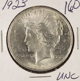 LOT OF 3 - 1923 - PEACE DOLLARS - UNC