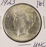 LOT OF 2 - 1923 - PEACE DOLLARS - UNC