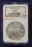 2007 NGC MS 69 SILVER EAGLE