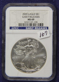 2009 - NGC MS 69 EARLY RELEASE SILVER EAGLE