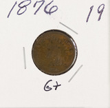 1876 - INDIAN HEAD CENT - G+