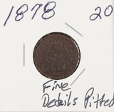1878 - INDIAN HEAD CENT - F (PITTED)