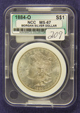 1884-O MORGAN DOLLAR -UNC