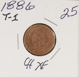 1886 TYPE 1 - INDIAN HEAD CENT - XF