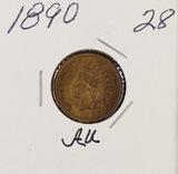 1890 - INDIAN HEAD CENT - AU