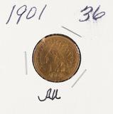 1901 - INDIAN HEAD CENT - AU