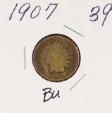 1907 - INDIAN HEAD CENT - BU