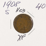 1908-S INDIAN HEAD CENT - XF KEY