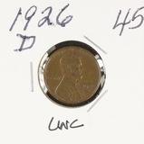 1926-D LINCOLN CENT - UNC