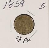 1859CN - INDIAN HEAD CENT - AU
