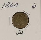 1860 - INDIAN HEAD CENT - AU