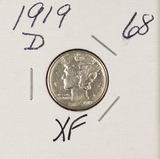 1919-D MERCURY DIME - XF