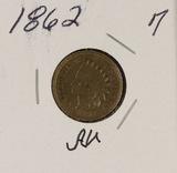 1862 - INDIAN HEAD CENT - AU