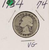 1934 - WASHINGTON QUARTER - VG