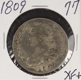 1809 - CAPPED BUST HALF DOLLAR - XF+