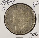 1884-S MORGAN DOLLAR - XF