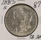 1885-S MORGAN DOLLAR - AU