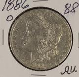 1886-O MORGAN DOLLAR - AU