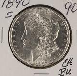 1890-S  MORGAN DOLLAR - BU