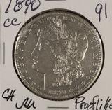 1891 - CC MORGAN DOLLAR - AU (PROOF LIKE)