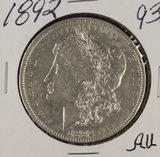 1892 - MORGAN DOLLAR - AU